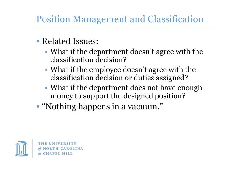 Position Management and Classification