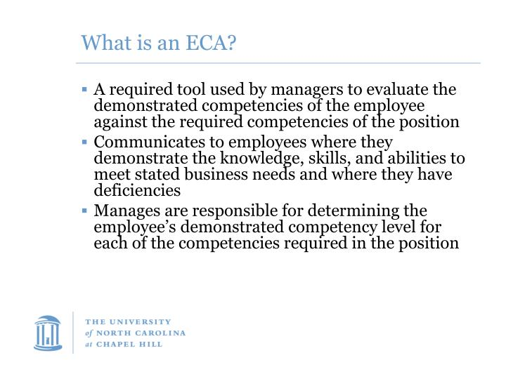 What is an ECA?