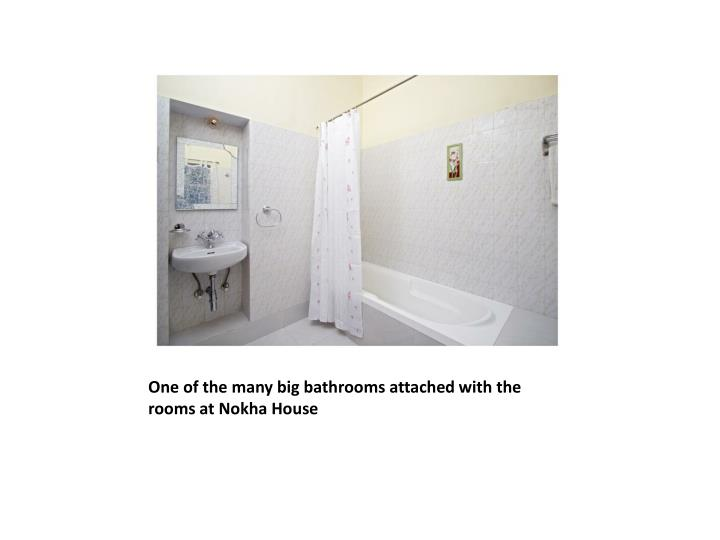 One of the many big bathrooms attached with the rooms at Nokha House