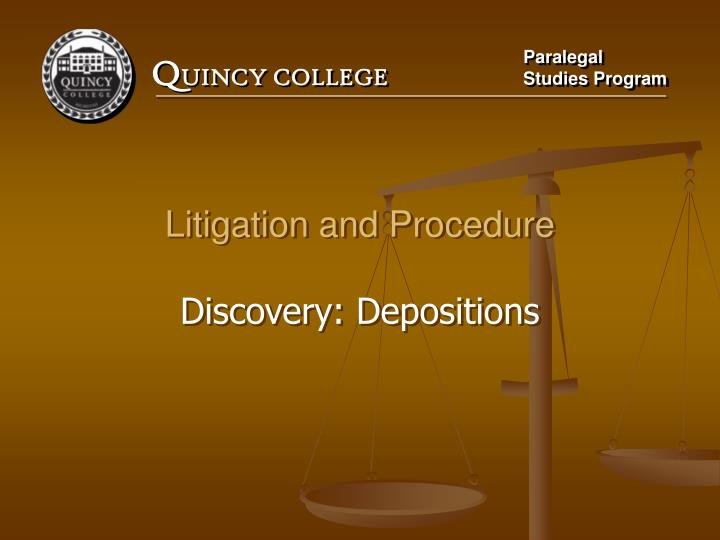 Litigation and Procedure