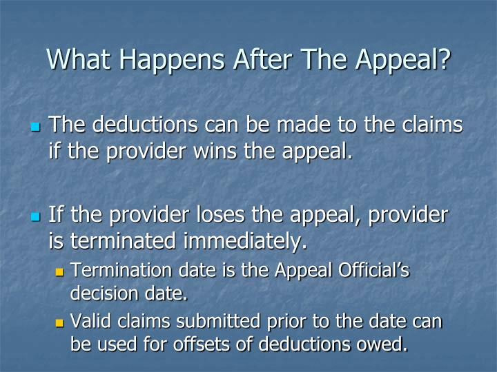 What Happens After The Appeal?