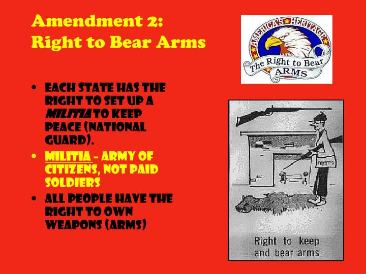 Each state has the right to set up a
