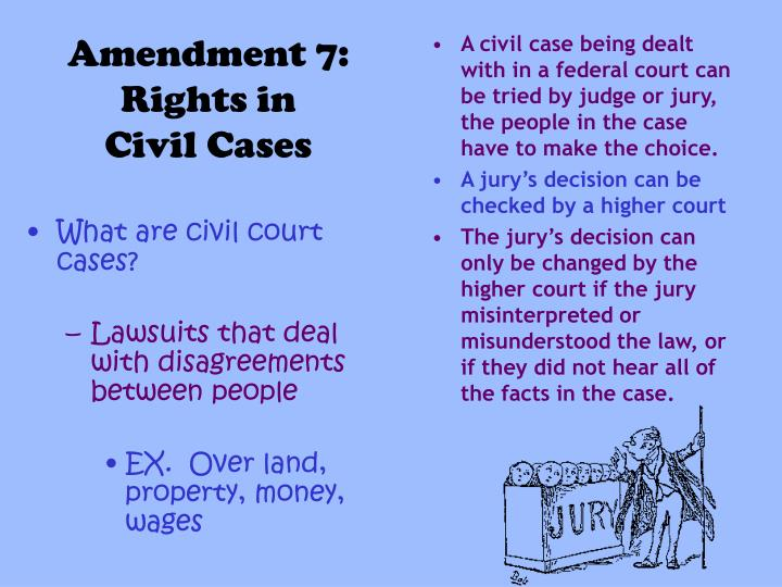What are civil court cases?
