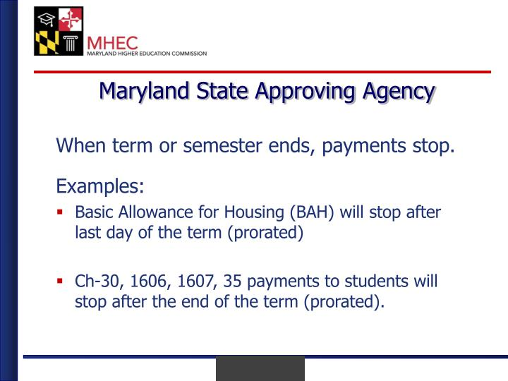 Maryland State Approving Agency