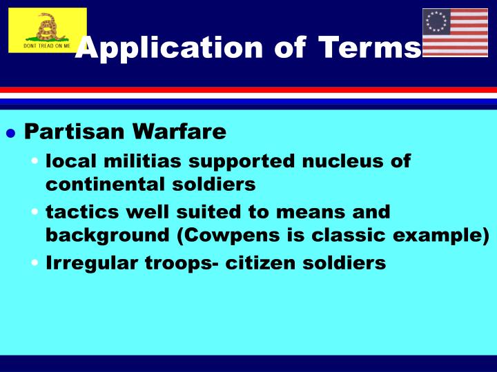 Application of Terms
