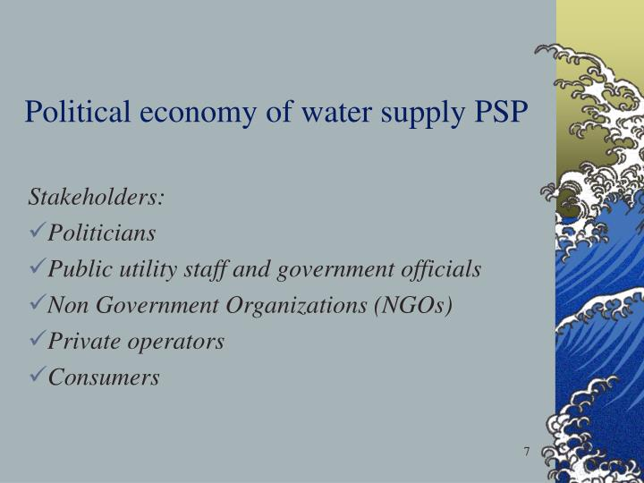 Political economy of water supply PSP