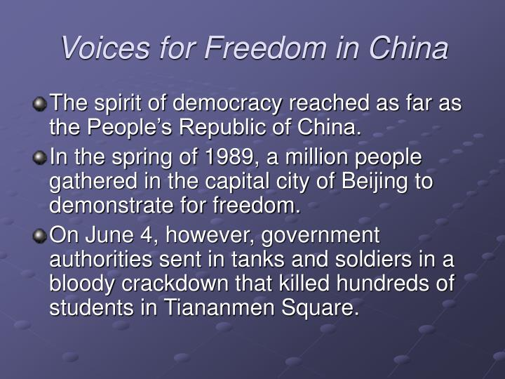 Voices for Freedom in China