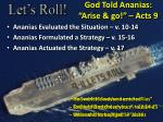 god told ananias arise go acts 9