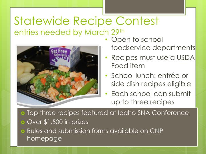 Statewide Recipe Contest