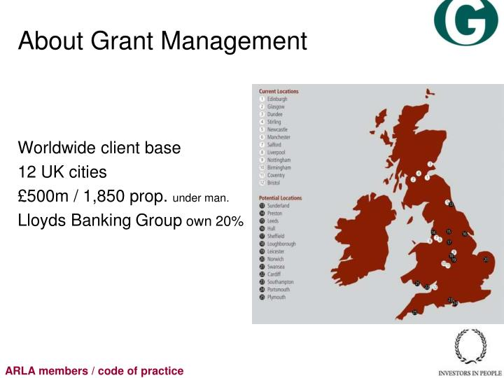 About Grant Management