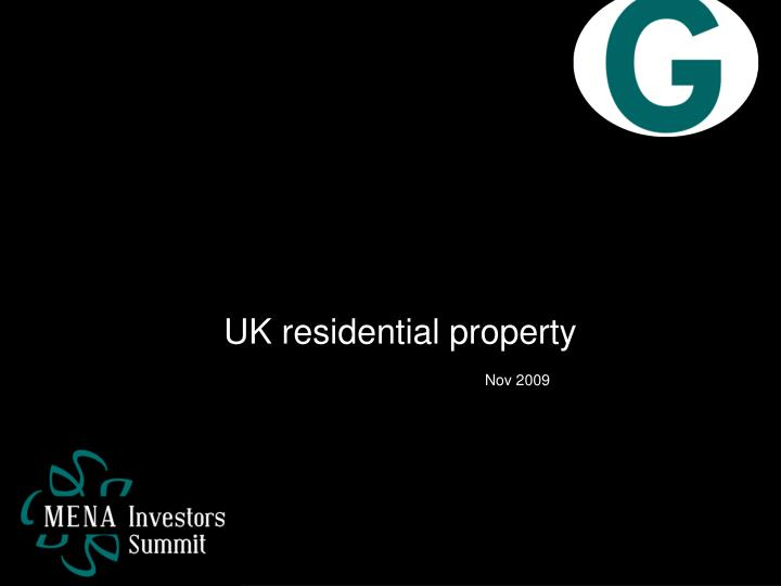 UK residential property