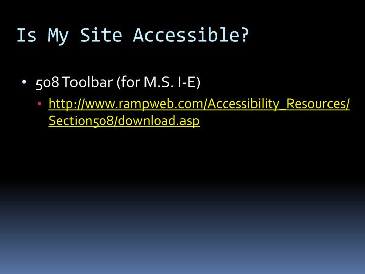 Is My Site Accessible?