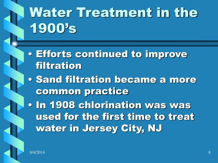 Water Treatment in the 1900's