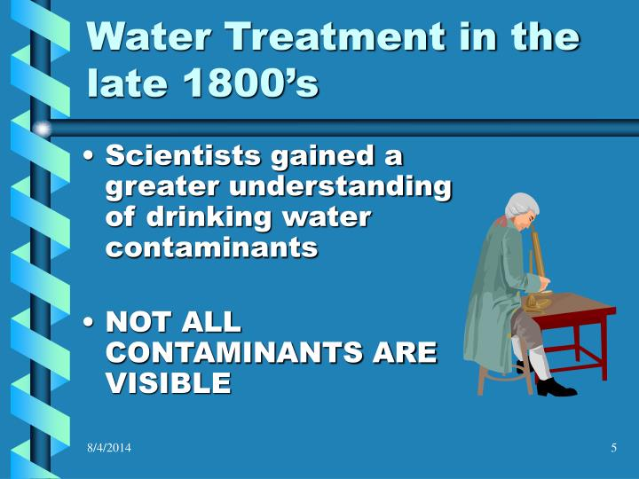 Water Treatment in the late 1800's
