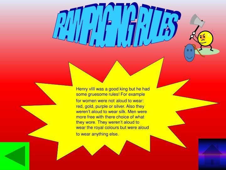 RAMPAGING  RULES