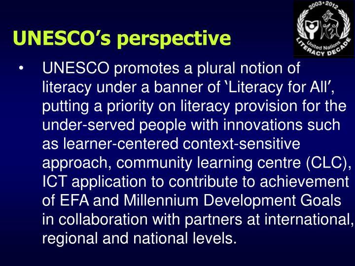 UNESCO's perspective