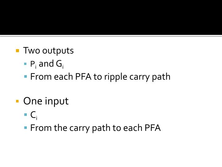 Two outputs
