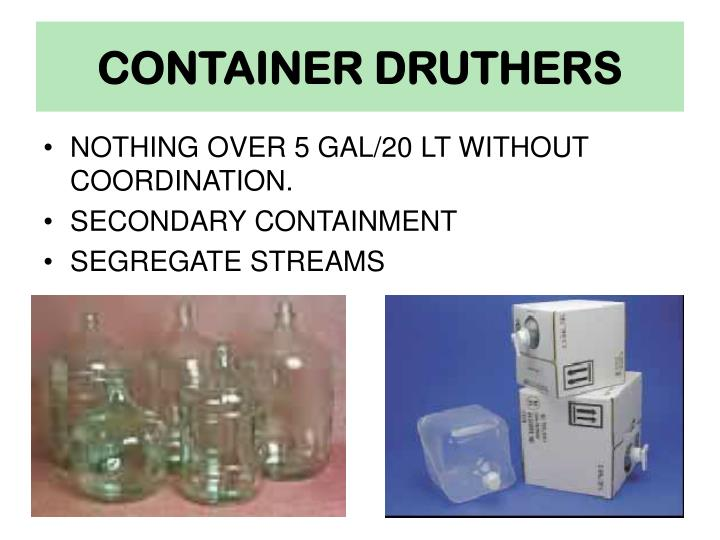 CONTAINER DRUTHERS