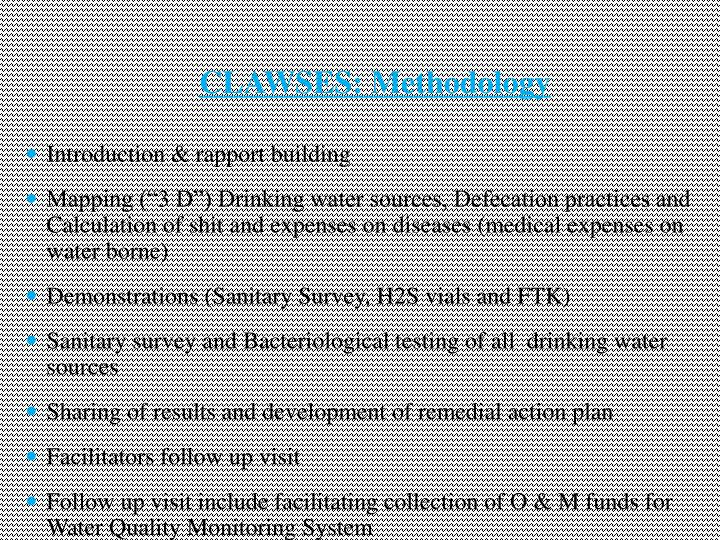CLAWSES: Methodology