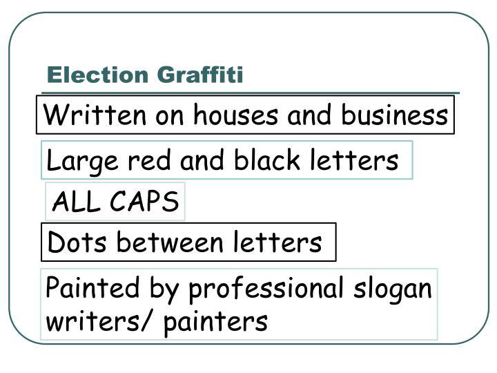 Election Graffiti