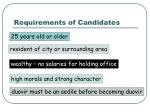 requirements of candidates
