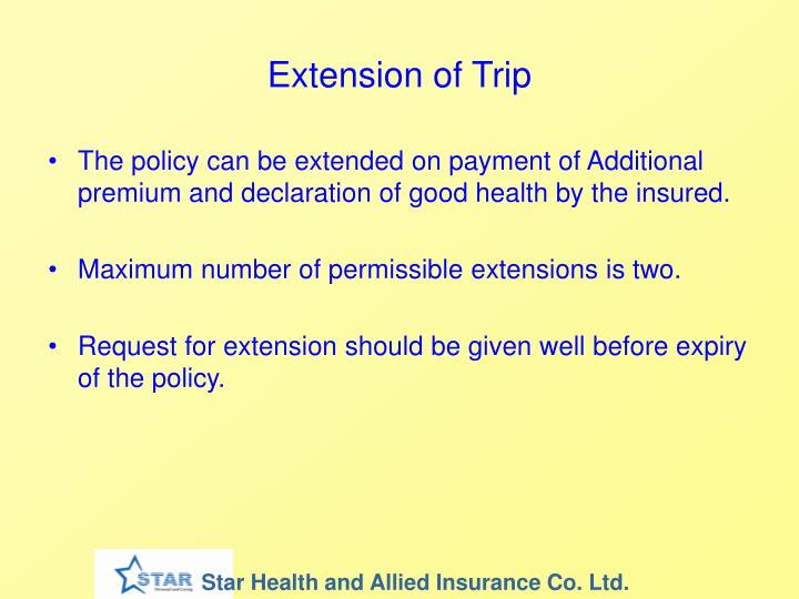 Extension of Trip