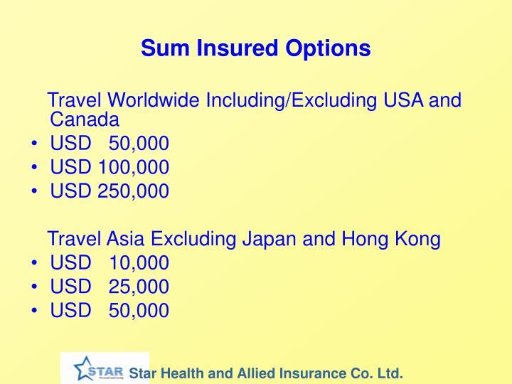 Sum Insured Options