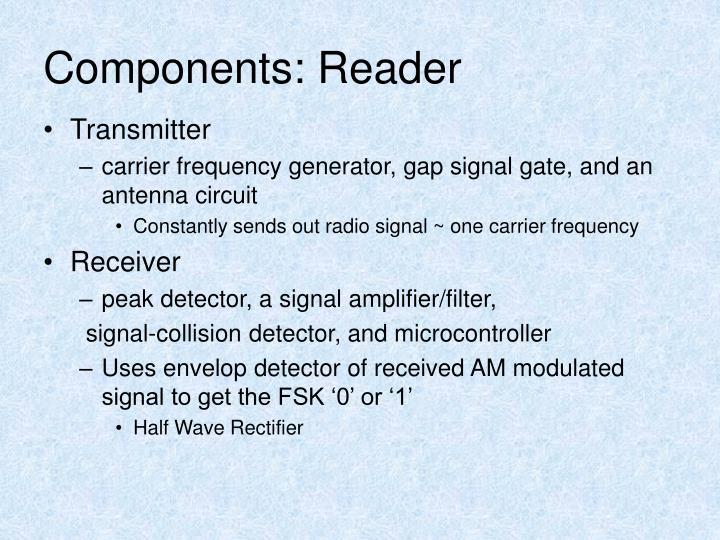 Components: Reader
