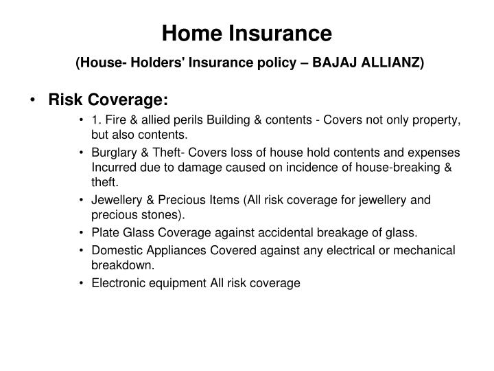 Home insurance house holders insurance policy bajaj allianz