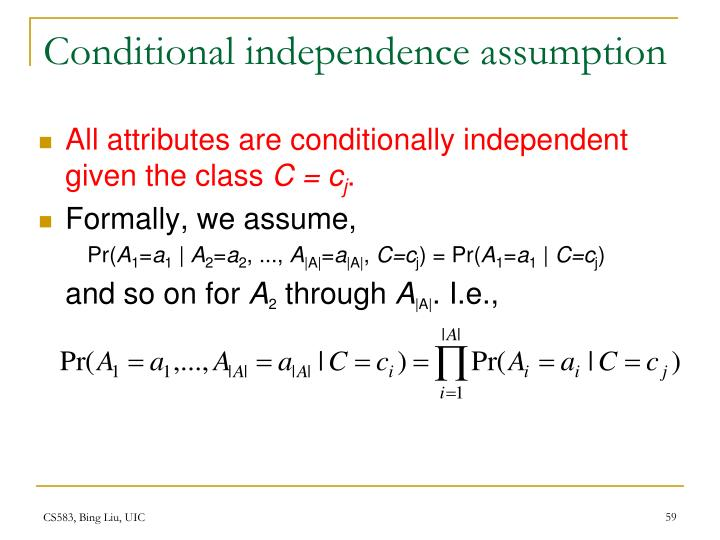 Conditional independence assumption