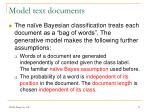 model text documents
