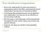 text classification categorization