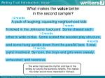 what makes the voice better in the second sample2