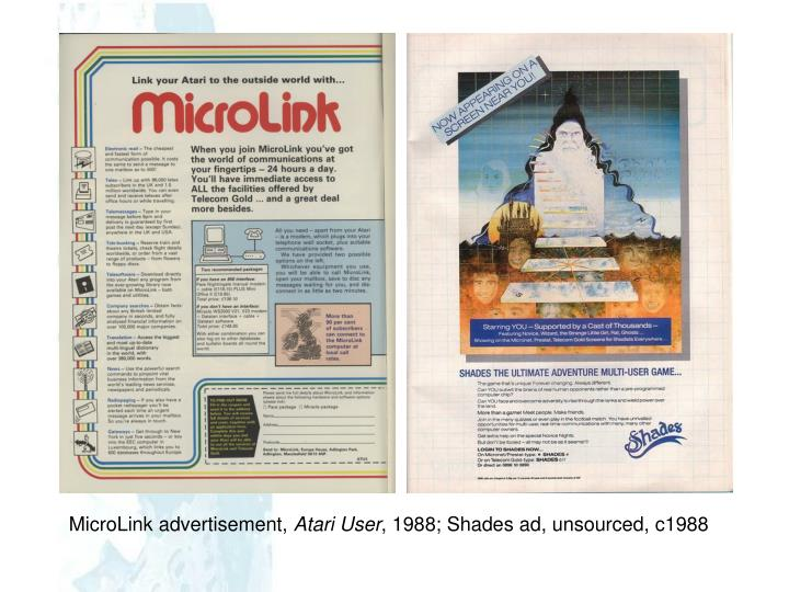 MicroLink advertisement,