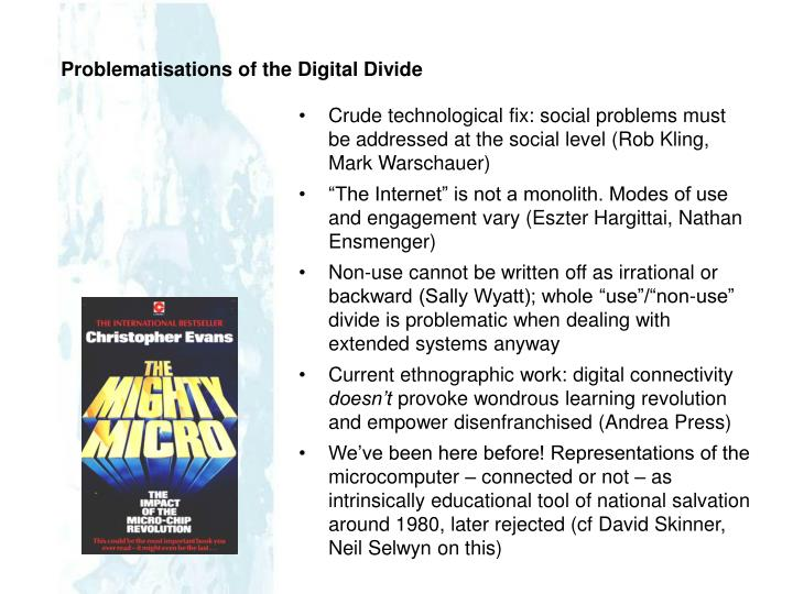 Problematisations of the Digital Divide