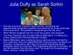 julia duffy as sarah sorkin
