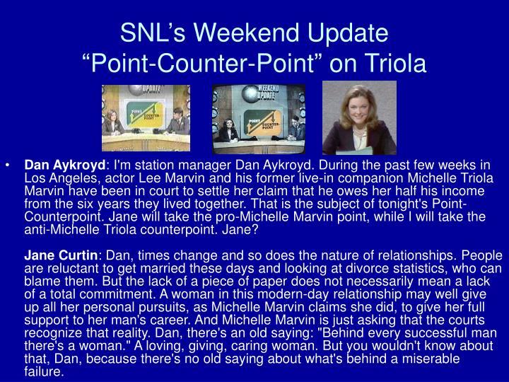 SNL's Weekend Update