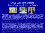 snl s weekend update point counter point on triola