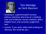tom aldredge as herb myerson