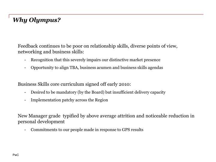 Why Olympus?