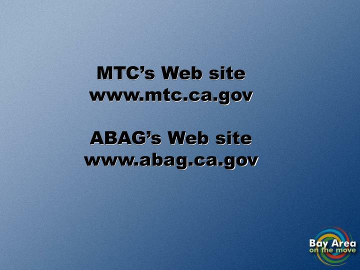 MTC's Web site
