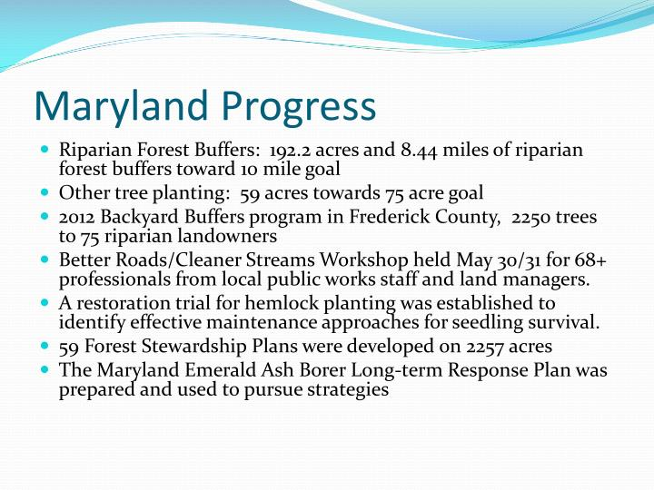 Maryland Progress