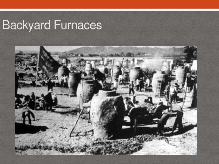 Backyard Furnaces