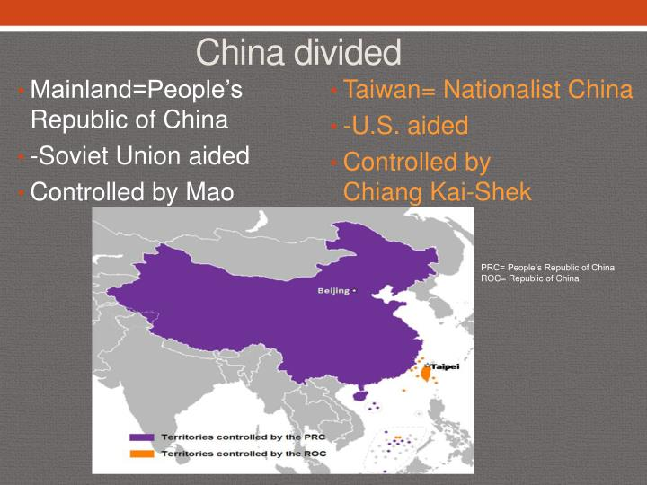 Taiwan= Nationalist China