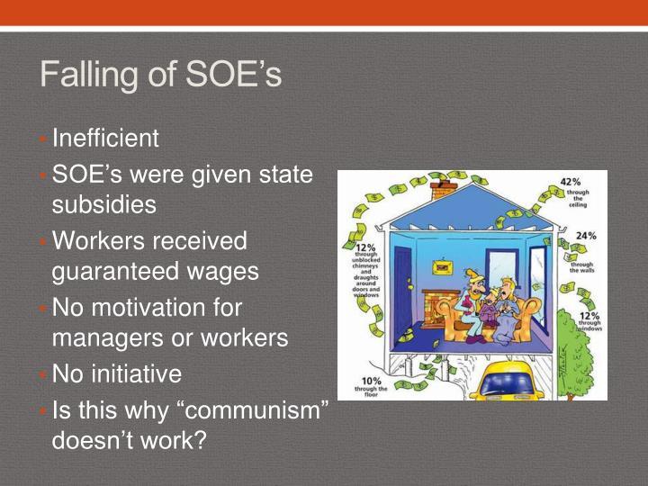 Falling of SOE's