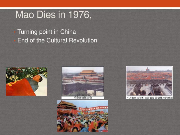 Mao Dies in 1976,