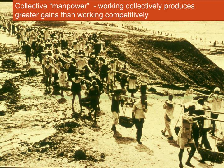 "Collective ""manpower""  - working collectively produces"