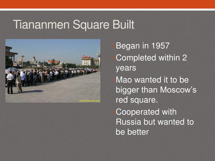 Tiananmen Square Built