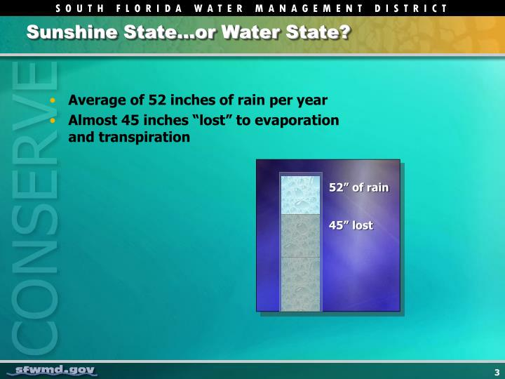 Sunshine State…or Water State?