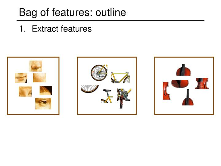 Bag of features: outline